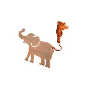 Kovová záložka do knihy ve tvaru slona Just Mustard Lucky Elephant