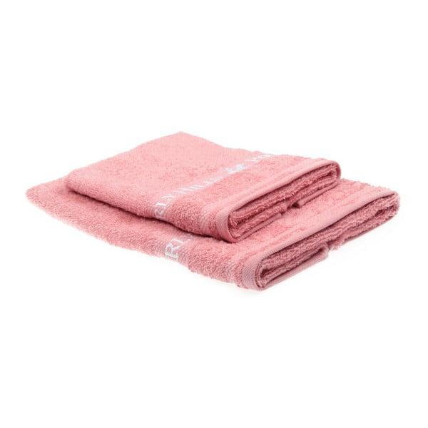 Sada 2 ružových uterákov Beverly Hills Polo Club Tommy Yazi