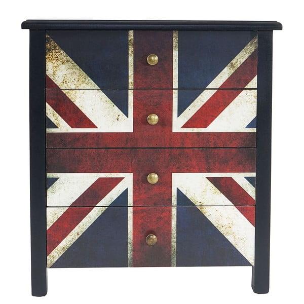 Komoda Union Jack, 66x60x33 cm