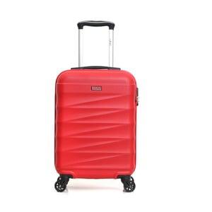 Červený cestovní kufr na kolečkách Hero Wave