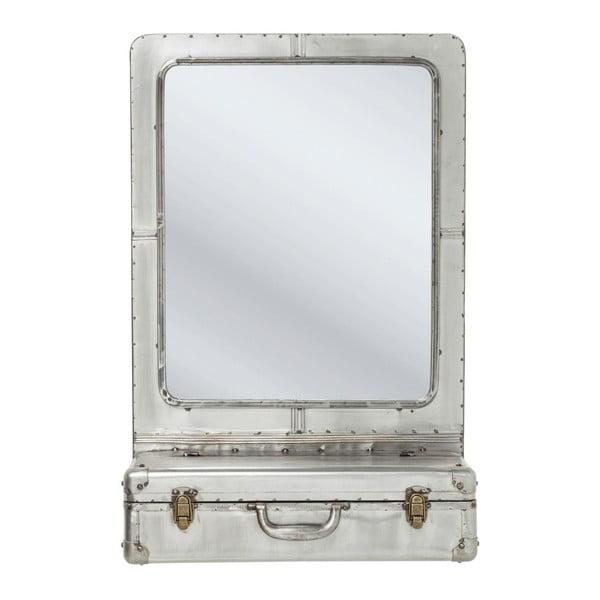 Suitcase fali tükör, tárolórekesszel - Kare Design
