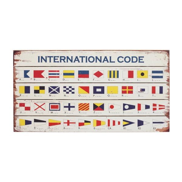 Dřevěná cedule Artesania Esteban Ferrer International Code