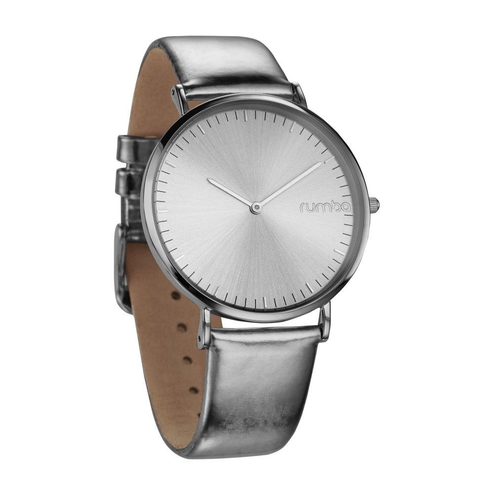 Dámské hodinky s koženým řemínkem ve stříbrné barvě Rumbatime Chelasea  Lights afd58f1075