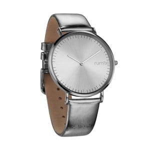 Kožené stříbrné hodinky Rumbatime Chelasea Lights