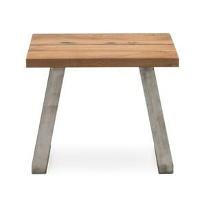 Odkládací stolek z kovu adubového dřeva VIDA Living Trier