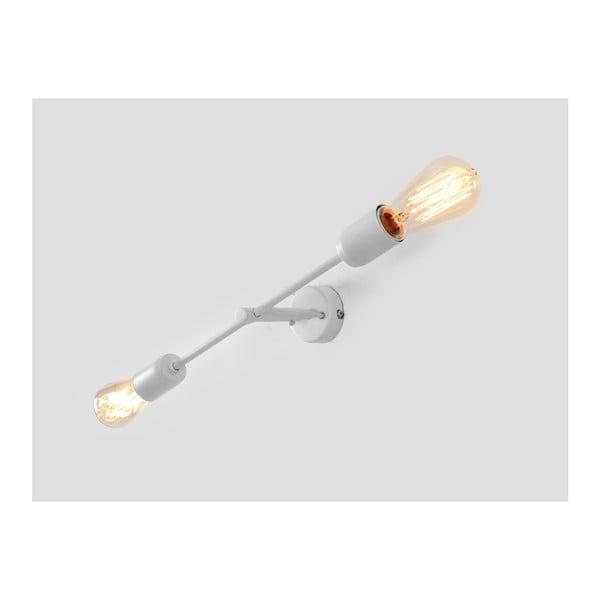 Bílá nástěnná lampa pro 2 žárovky Custom Form Twigo, šířka43cm