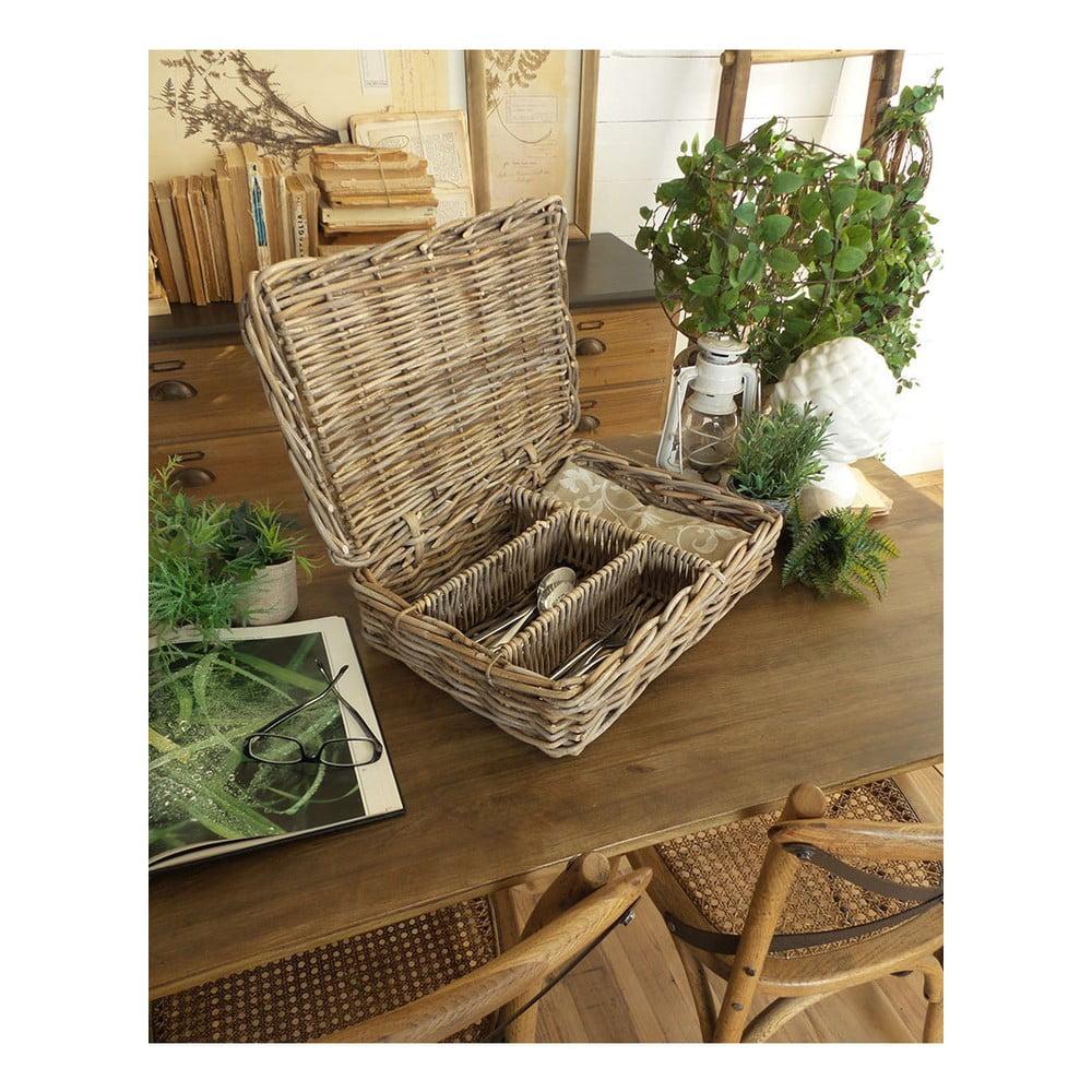 Ratanový košík na příbory Orchidea Milano St. Barts