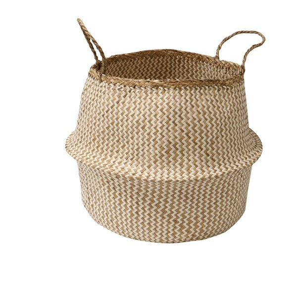 Jasny koszyk z trawy morskiej Compactor Zic Zac, ⌀45cm