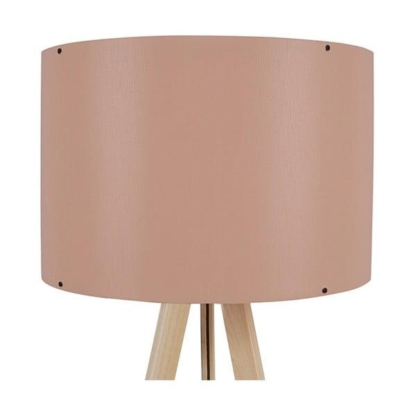 Stojací lampa se světle růžovým stínítkem Aiden