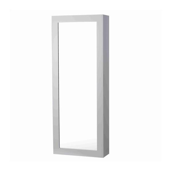 Zrcadlo s přihrádkami na kravaty White Elegance