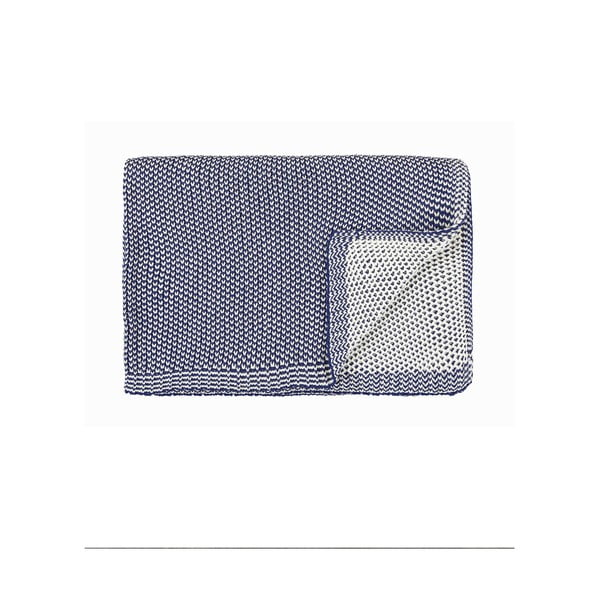 Pléd Marc O'Polo Norr, 130x170 cm, indigově modrý