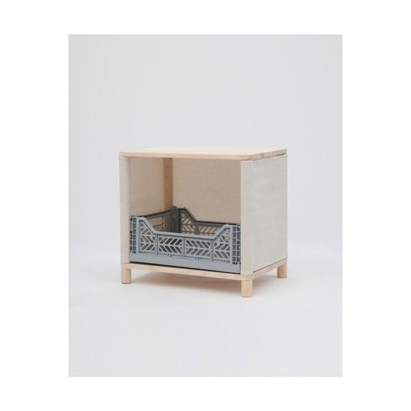 Odkládací stolek zborovicového dřeva Little Nice Things Blue Brunna