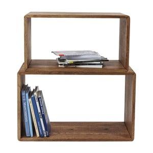 Set 2 rafturi din lemn masiv de stejar Kare Design Attento Cuben Rectangular