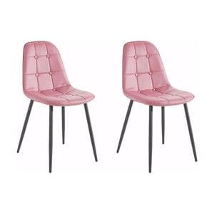 Sada 2 růžových židlí Støraa Lamar