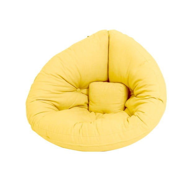 Žlté detské rozkladacie kresielko Karup Mini Nido