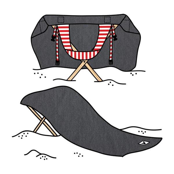 Skládací plážové lehátko a osuška v jednom Sun Basalt