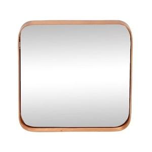 Zrcadlo v rámu s měděnou barvou Hübsch Tovi, 31x31cm