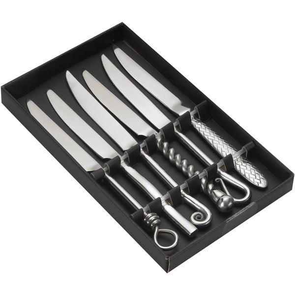 Zestaw 6 noży ze stali nierdzewnej w pojemniku podarunkowym Jean Dubost Forged