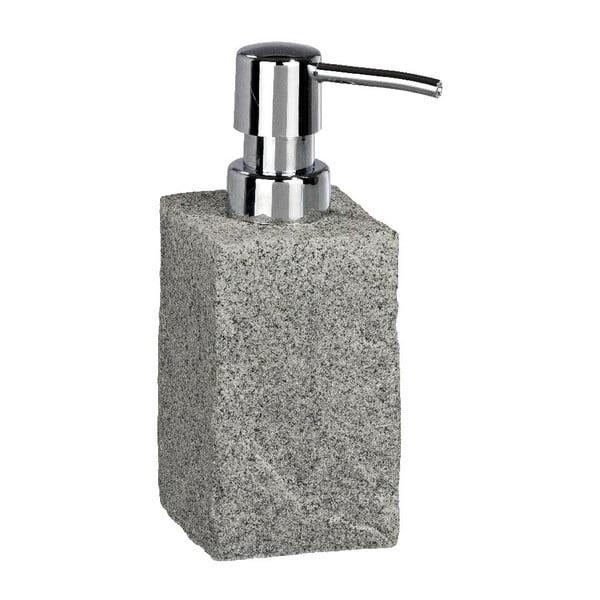Šedý dávkovač mýdla Wenko Granite