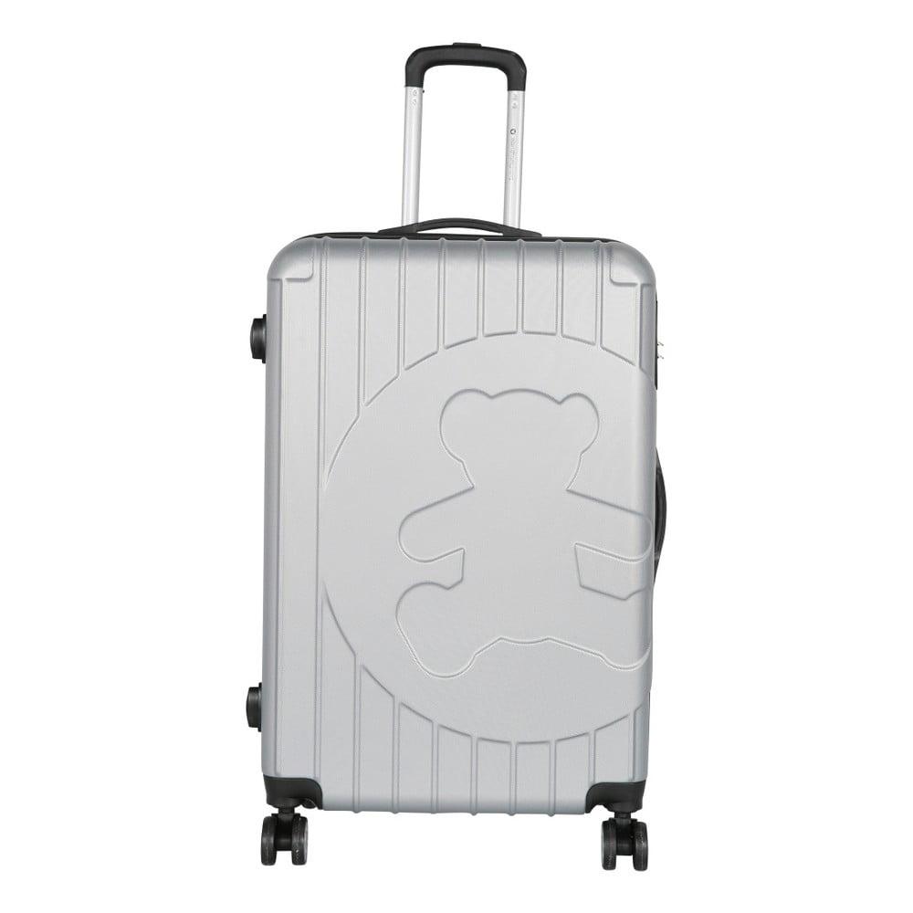 Světle šedý cestovní kufr LULU CASTAGNETTE Philip, 107l