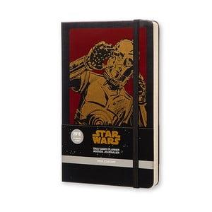Denní diář Moleskine Stars Wars, 13x21 cm