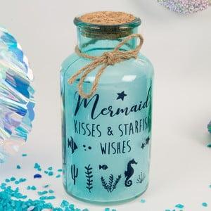 Dekorativní svítící LED lahev Now or Never Mermaid Tales Starfish Kisses