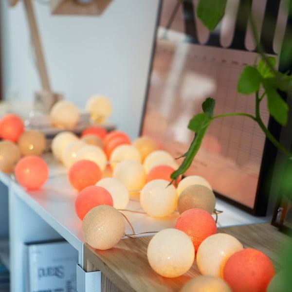 Světelný řetěz Irislights Peach Pie, 10světýlek