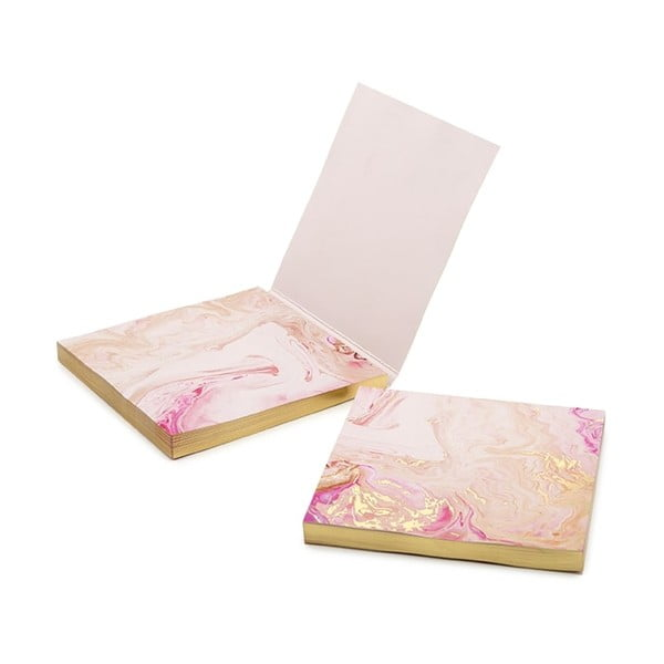 Sada růžových lepíků GO Stationery Quartz