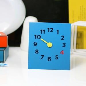Stolní hodiny Desk Clock, modré