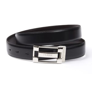 Černý pánský kožený pásek GF Ferre Alex, délka 135 cm