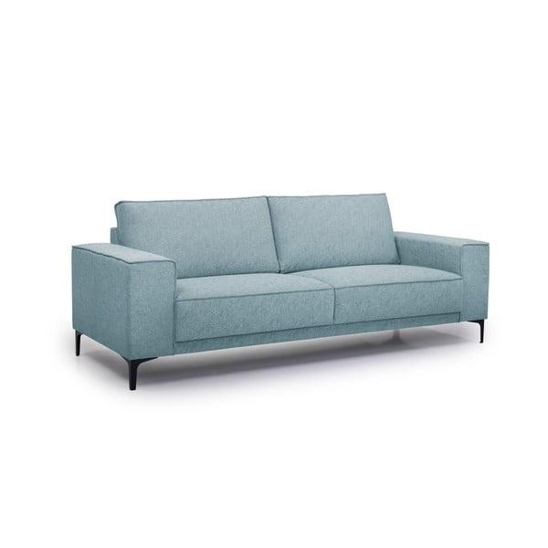 Canapea cu 3 locuri Softnord Copenhagen, albastru safir