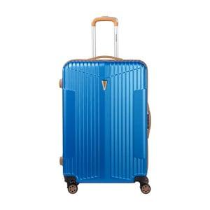 Modrý kufr na kolečkách Murano Europa