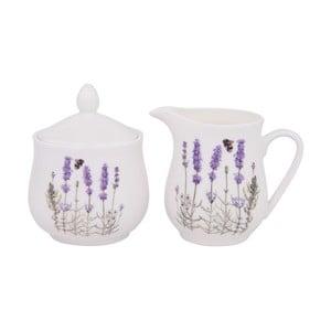 Cukřenka a mléčenka z kostního porcelánu Ashdene I Love Lavender