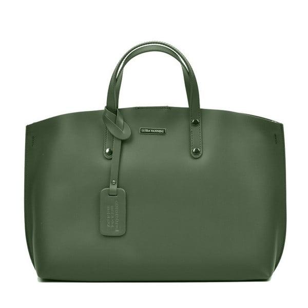 Zelená kožená kabelka Luisa Vannini Veronica