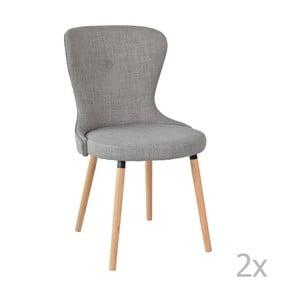 Set 2 scaune RGE Boogie, gri