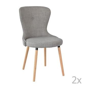 Set 2 scaune RGE Boogie, gri de la RGE