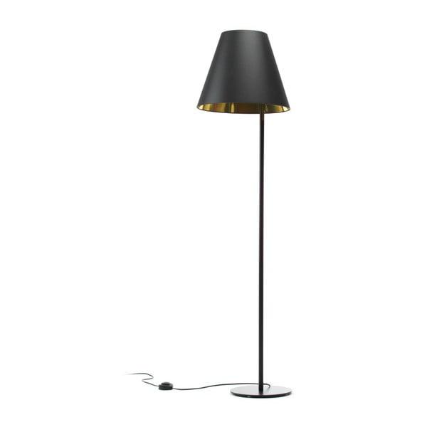 Černo-zlatá stojací lampa 4room Book, 158 cm