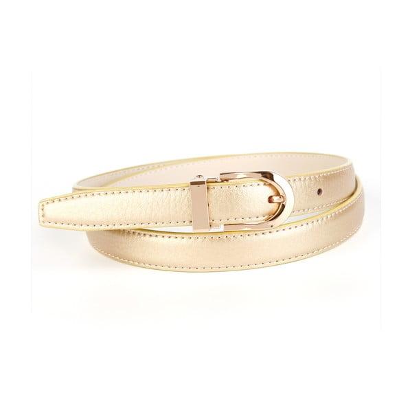 Dámský kožený pásek 43TG Gold, 90 cm