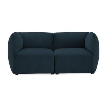 Canapea modulară cu 2 locuri Vivonita Velvet Cube, bleumarin de la Vivonita