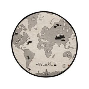 Bavlněný koberec OYOY The World, ⌀ 135 cm