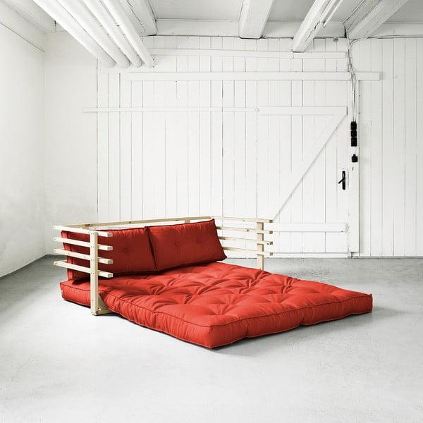 Canapea extensibilă Karup Funk Natural/Red