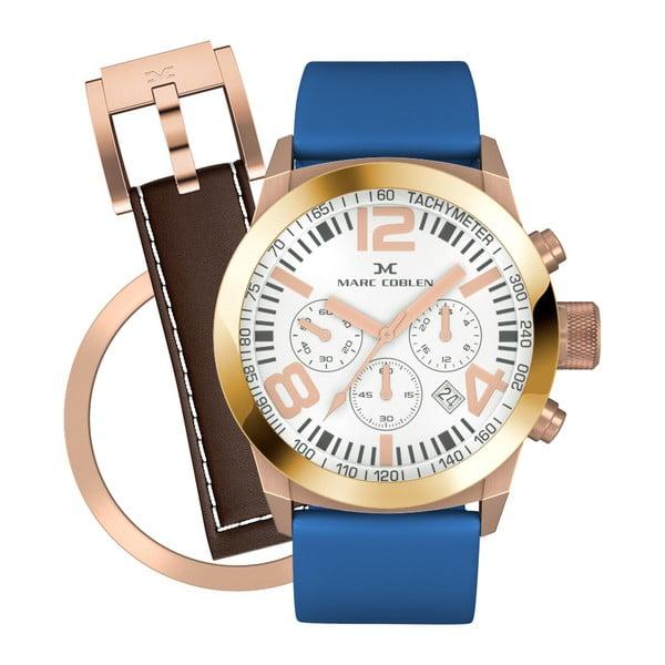 Dámské hodinky Marc Coblen s páskem a kroužkem navíc P91