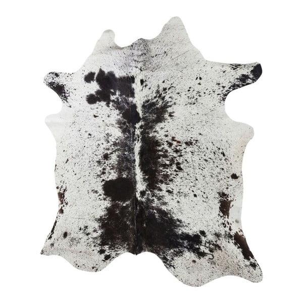 Bílo-hnědý koberec z hovězí kůže Kare Design Hide,190x150cm