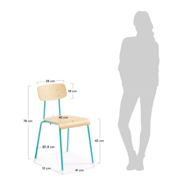 Scaun cu picioare verzi La Forma Klee