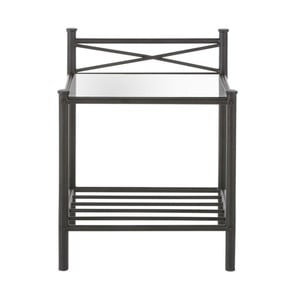 Černý kovový noční stolek Støraa Tanja