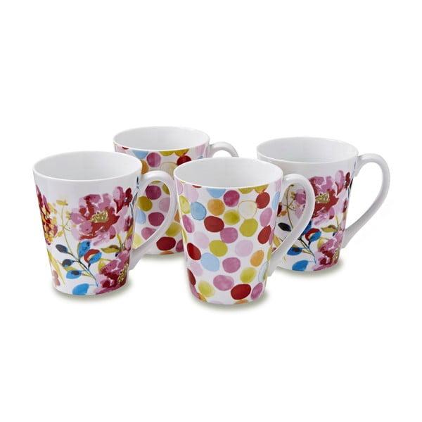 Sada 4 hrnků Cooksmart England Floral Romance