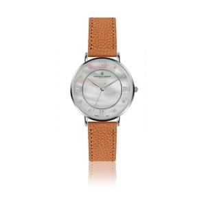 Dámské hodinky s koňakově hnědým páskem z pravé kůže Frederic Graff Silver Liskamm Lychee Ginger