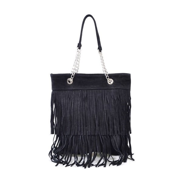 Kožená kabelka Marianne, černá
