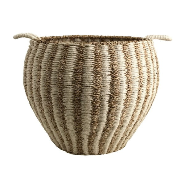 Úložný košík z juty a mořské trávy Moycor Natural, výška 45 cm
