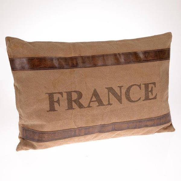 Polštář France Beige, 60x40 cm